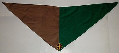 Boy Scouts Of Canada Official Neckerchief Green/tan Two Tone Nice Circa 1960