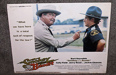 SMOKEY AND THE BANDIT 11x14 JACKIE GLEASON original 1977 lobby card movie poster