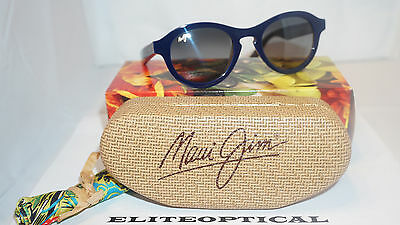 2239192d21b4 Maui Jim New Authentic Sunglasses LEIA Blue with Rootbeer Neutral Grey  GS708-03D