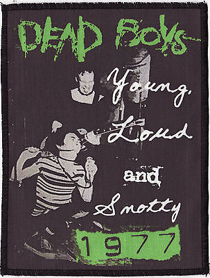 Dead Boys Overlocked Patch Young Loud And Snotty 1977 Stiv Bators Punk Rock A6+