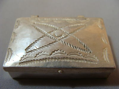 Native American Navajo Indian Decorated silver Box