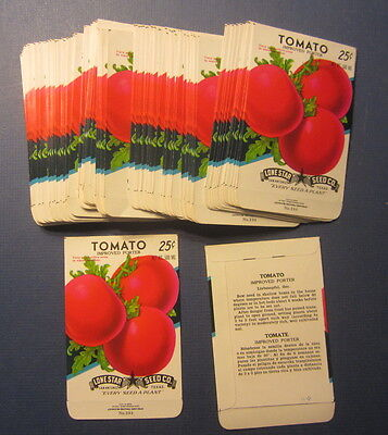 Wholesale Lot of 100 Old Vintage TOMATO PORTER - Vegetable SEED PACKETS - EMPTY