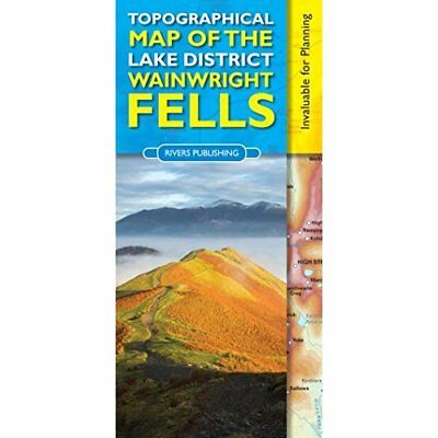 Topographical Map of the Lake District Wainwright Fells - Map NEW Peter Knowles