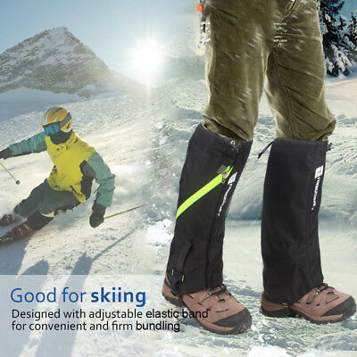 Waterproof Leg Gaiters Boot Shoe Cover Ski Snow Hiking Walking Climbing Legging