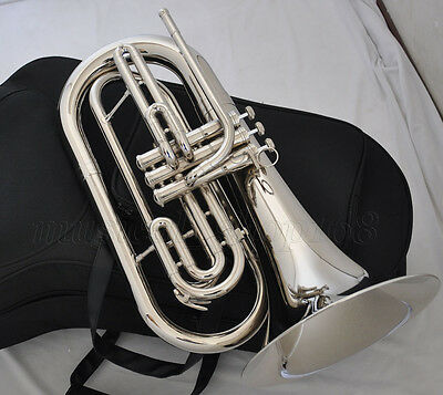Professional JinBao New Silver nickel Marching Baritone Bb Horn with case
