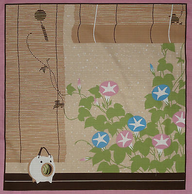 Furoshiki Wrapping Cloth Japanese Fabric 'Summer Memories' Cotton 50cm