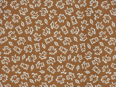 Tenugui Cloth Japanese Fabric Cotton Towel Gauze 'Brown Tanuki Raccoon Dog'
