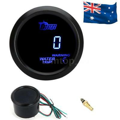 "2"" 52mm BLUE DIGITAL WATER TEMP TEMPERATURE CELSIUS GAUGE SENSOR FOR CAR AU"