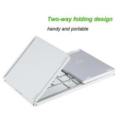 Mini Ultra Slim Foldable Folding BT Wireless Keyboard with Touchpad for PC P0G7