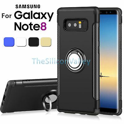 Hybrid Armor Kickstand Slim Ring Protective Case Cover for Samsung Galaxy Note 8