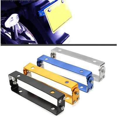 Adjustable Aluminum License Plate Holder Mount Bracket Motorcycle Dirt Bike Quad