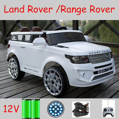 Kids Toy Land Rover Ride On Car 12V 2x Motor 2x Door Leather Seat EOFY Sale