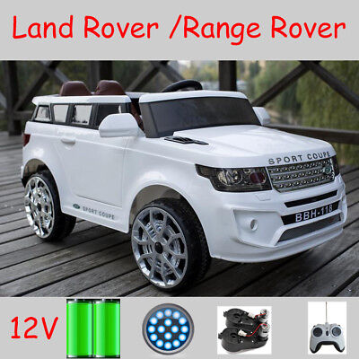 Xmas BDAY Kids Toy Land Rover Ride On Car 12V 2x Motor 2x Door Leather Seat