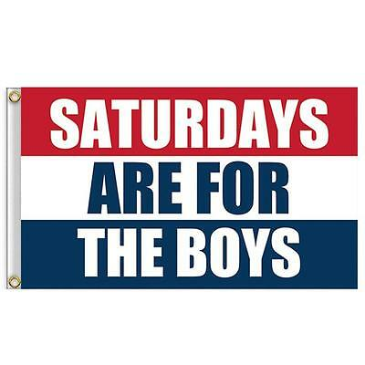NEW Saturdays Are For The Boys Flag 3x5ft Banner Red White Blue Flag Free Ship