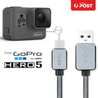 0.2-1.5M USB 3.1 Type C Data Snyc Charger Charging Cable Fr Gopro Hero 5 Session