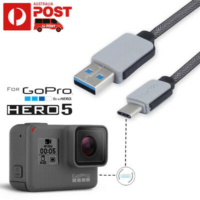 Strong Braided USB Type C Data Snyc Charger Charging Cable Gopro Hero 5 Session