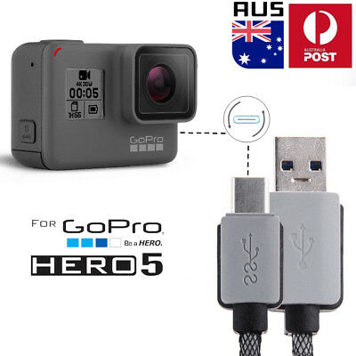 0.2-1.5M USB Type C Data Snyc Charger Charging Cable Cord Fr Gopro Hero 5 Camera