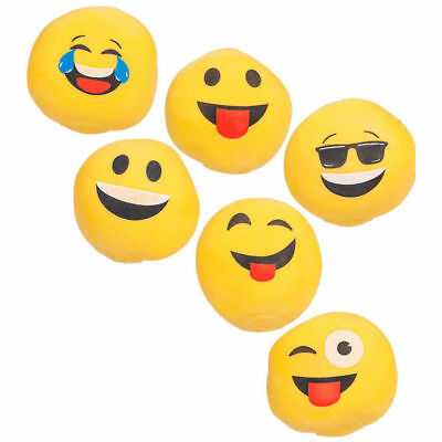 6 er Set Anti Stress Ball Emoji Smiley Smilie Knetball Knautschball Frust Bälle