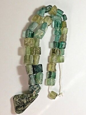 Exceptional Ancient Roman Glass Necklace from Afghanistan 69.4gr 26.0mm