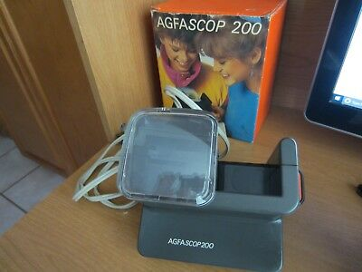 Agfascop 200 35mm Slide Viewer | AC powered backlight | Made in Germay Free Ship
