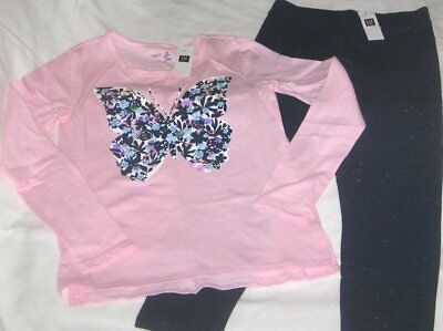NWT Girls 8 GAP 2 Pc Outfit Leggings and Long Sleeve Top NEW