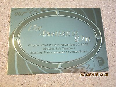 James Bond 50th Anniversary Series 2 Gold Plaque #P 20 Die Another Day