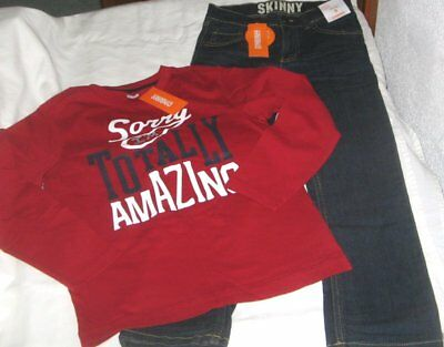 NWT Boys 8 GYMBOREE 2 Pc Outfit Jeans and Long Sleeve Top NEW