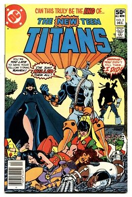NEW TEEN TITANS #2 comic book 1st DEATHSTROKE-1980 key issue