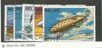 Belize, Postage Stamp, #672-676 Used, 1983 Airships