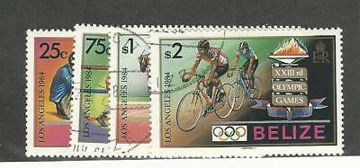 Belize, Postage Stamp, #717-720 Used, 1984 Olympics Sports