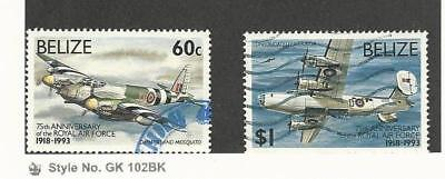 Belize, Postage Stamp, #1005, 1007 Used, 1993 Airplanes
