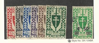 Cameroun, Postage Stamp, #289//302A (7 Different) Used, 1941-46