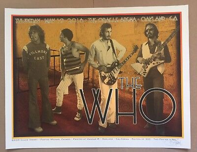 The Who Poster by Chuck Sperry, Oakland 2016 Edition of 350