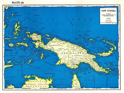 1963 Vintage NEW GUINEA Map Uncommon Map of New Guinea OCEANIA Map 4060