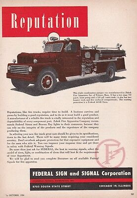 Atlantic City Has A Zabek Fire Engine  1954 Ad                6917