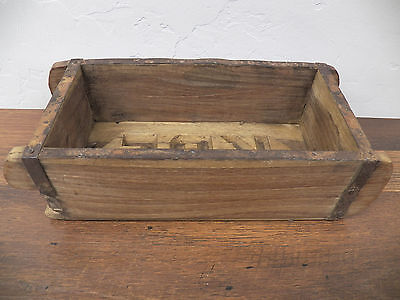 Old Antique Refurbished Wood Wooden Brick Mold Box 9.5 in x 4.5 in Lot 12 KBF