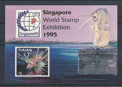 1995 Tokelau Islands Fish Singapore Exibition SG 229 Muh MS