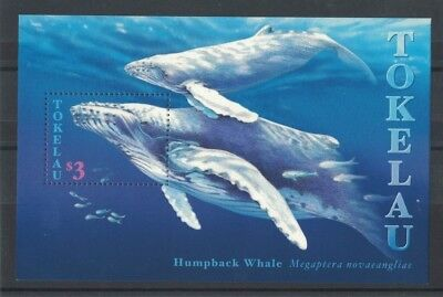 1997 Tokelau Islands Whales SG 263 Muh MS