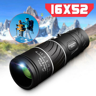 ARCHEER 16x52 HD Day & Night Vision Optical Monocular Dual Focus Zoom Telescope