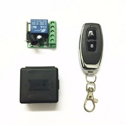 DC 12V 1CH RF Relay Receiver Transmitter 433Mhz Wireless Remote Control Switch