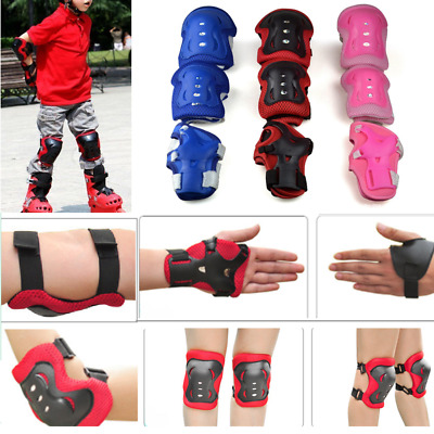Kids Knee Pads, Elbow Pads and Wrist Guards (Set of 6 Pads) Protective Pad Kids