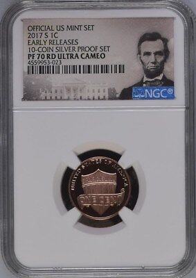 2017-S LINCOLN PROOF 1C (from Silver Set) EARLY RELEASES NGC PF70RD ULTRA CAMEO