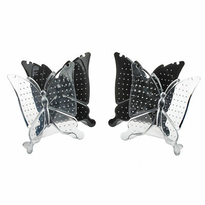 4pcs Black White Butterfly Display Stand Holder for Necklace Earrings Stud Hot