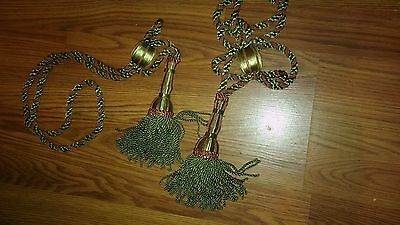 Pair of Antique Victorian Large Tassels for Curtains Very Nice