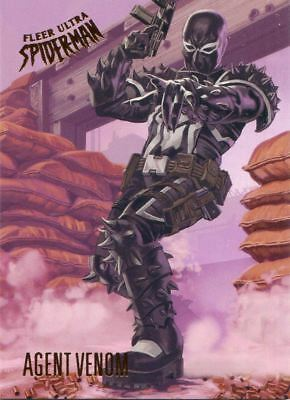 Spiderman Fleer Ultra 2017 Base Card #37 Agent Venom