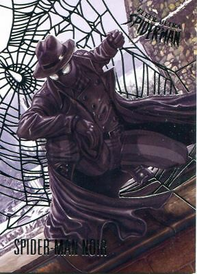 Spiderman Fleer Ultra 2017 Silver Parallel Base Card #82 Spider-Man Noir