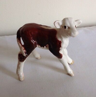 Vintage Beswick Hereford Brown And White Calf