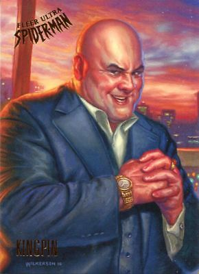 Spiderman Fleer Ultra 2017 Base Card #66 Kingpin