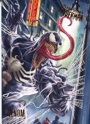 Spiderman Fleer Ultra 2017 Base Card #100 Venom