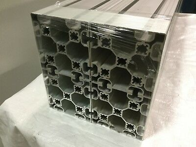 """Lot of 4- Maytec Alum. Extrusion 8x8mm-T-Slot 100mm-Square Profile Length 36"""""""